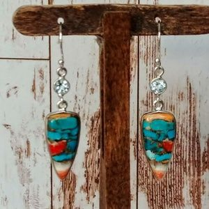 Arizona Turquoise & Spiny Lobster Earrings